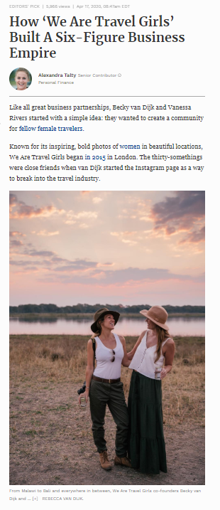 we are travel girls forbes feature