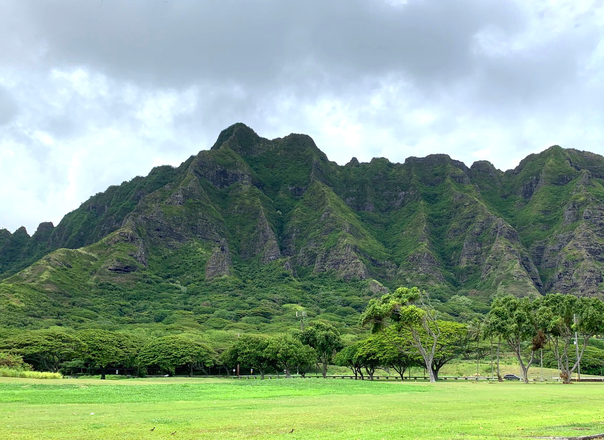 view of the mountains in north shore